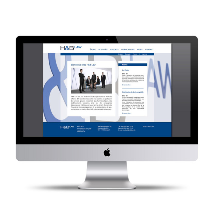 H&LAW: Avocats Morges: site internet