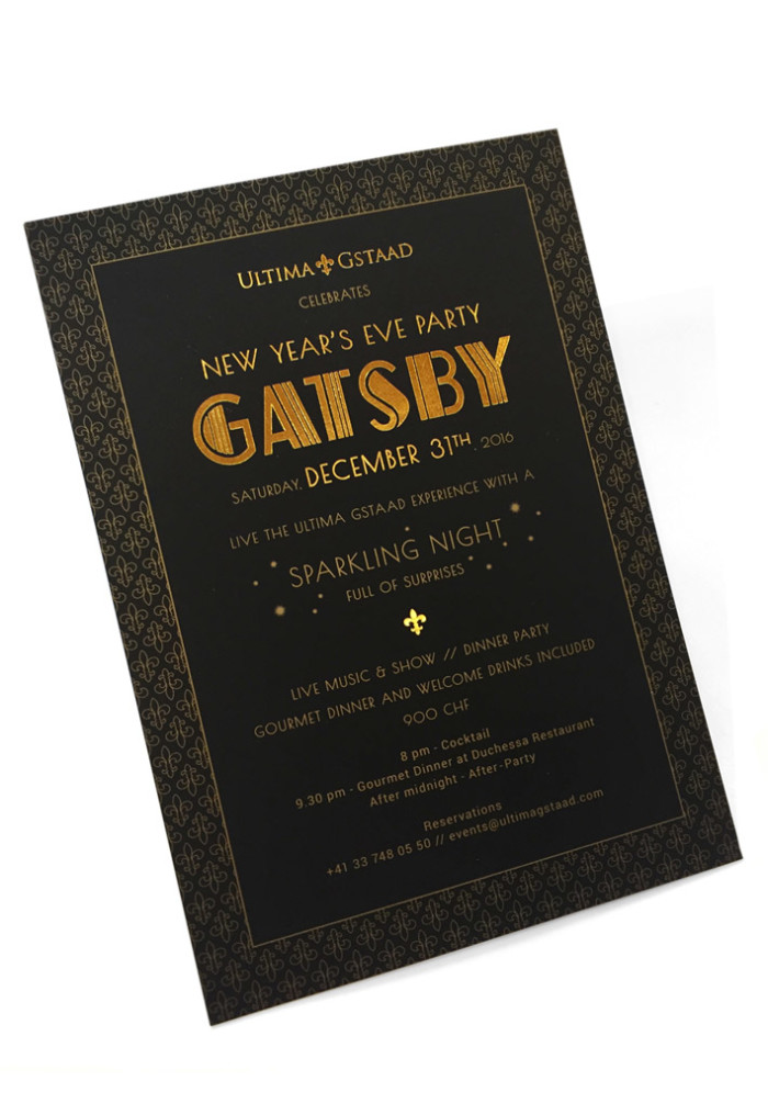Ultima G-staad: Nouvel an 2016: Gatsby Party